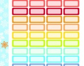 Shadowed Mini Boxes Stickers! 1 punched sheet, for your Erin Condren Life Planner, Plum Planner,  Filoflax, calendar