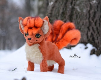 CUSTOM ORDER!Poseable Pokemon Vulpix.Fox plush