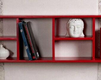 Shelf-red wall shelf-modern wall shelf