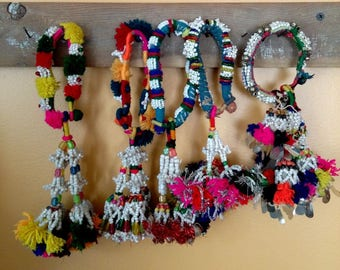 5 Banjara Tassels Tribal Rajasthani Belly Dance Fusion ATS Armlets Bracelets