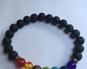Chakra bracelet, diffuser, yoga, spiritual, gift,