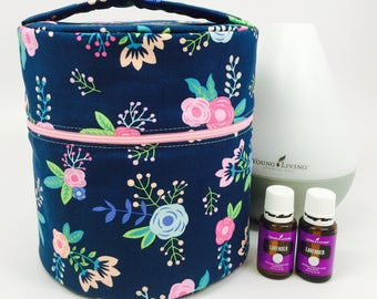 Young Living Essential Oil Diffuser Bag with interior pockets for oils-Fits both the Home and Dewdrop Diffuser