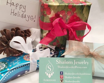 GIFT WRAP - Choose Christmas, Chanaka, or All Occasion. Fine Quality Paper and Ribbon.  With In Shop Product Purchase Only.