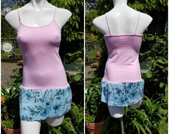 Sexy tank top dress-Remade-OOAK-SuElles-Size small-Altered Couture