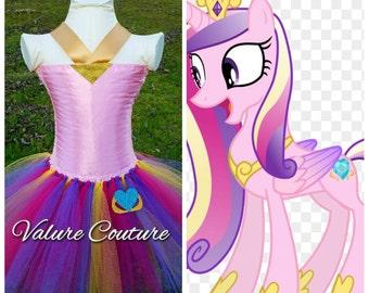 Princess Cadance My Little Pony Inspired Tutu Dress      Facebook.com/ValureCouture     Pinterest.com/ValureCouture