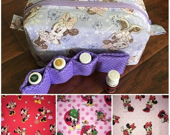 CHOOSE YOUR PRINT! Minnie Mouse oil bag, minnie mouse cosmetic bag,