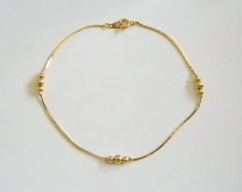Bright & Shiny Box Chain Ankle Bracelet