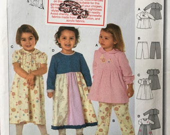 Burda Pattern # 9827 Dress Robe Vest pants Kids Little Girl's Clothes Sewing Pack