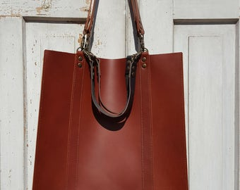 Rectangular leather tote **Free shipping**