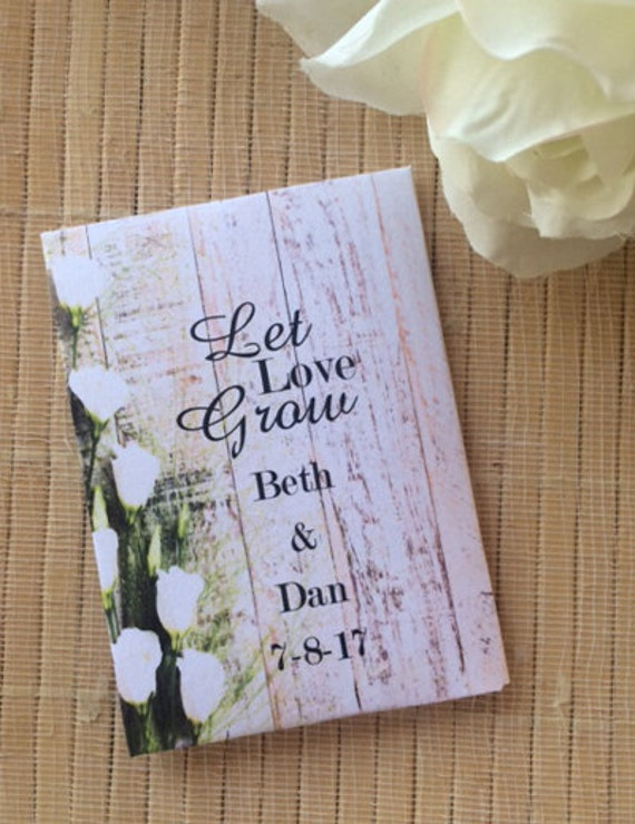 50 Wedding Favors, white rose Wedding decor, Wedding Seed Packets, white rose wedding favors, white rose wedding decor, rustic wedding decor