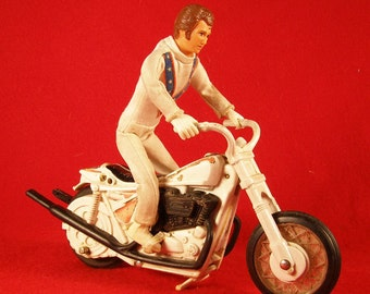 Evel Knievel Figure and Stunt Cycle Motorcycle