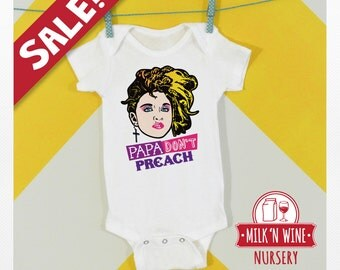Sale NB Newborn, Madonna, papa don't preach, Baby, Onesie®, bodysuit, romper, under shirt