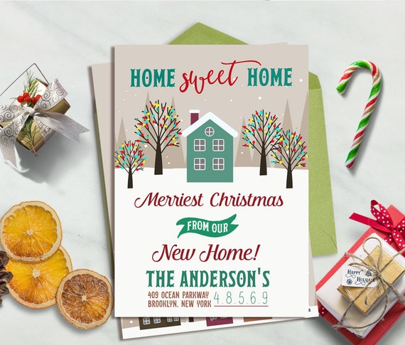 Moving Announcement Christmas Moving Card New Home