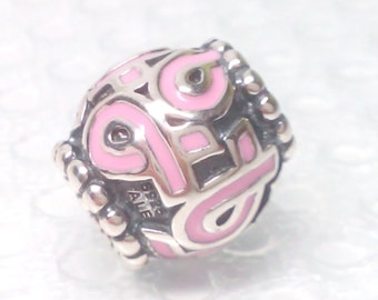 New Authentic Pandora Pink Ribbon Breast Cancer Bead 790755EN24