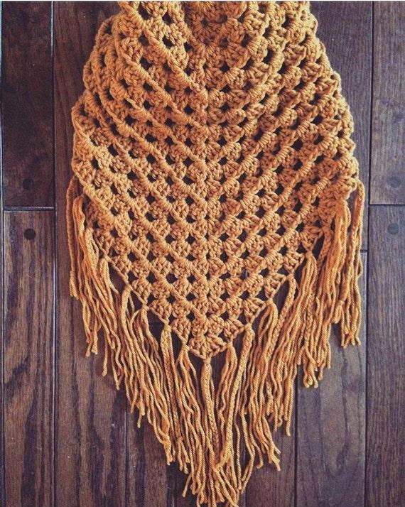 Crochet Pattern for Triangle scarf, Triangle wrap, Triangle Shawl, Oversized Crochet Scarf, Bandana Scarf pattern, Easy Scarf Pattern