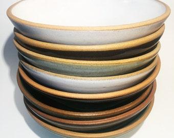 Noodle bowls, Ceramic bowls, Pottery bowls, blue, white, green