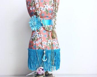 Mannequin pincushion ,dress form, Jewellery organizer , lady bust  stand, necklace display, kids decor, bridal shower, mannequin, bride gift