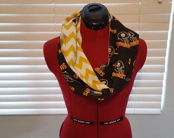 Pittsburgh Steelers Infinity Scarf-Steelers Scarf-Pittsburgh Steelers-Steelers Infinity Scarf-NFL Infinity Scarf-NFL Scarf-Steelers Gift