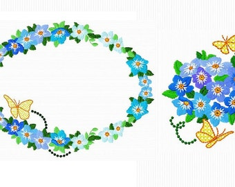 2 reasons for blue spring flowers for machine embroidery