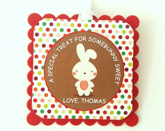 Easter gift tags etsy personalised easter gift tags personalised bunny tags personalised easter tags negle Choice Image