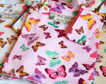 Tote Bag, Girls mini tote bag, Tote bag for girls, Handmade tote bag, Butterfly tote bag, Gift for girls, Tote and purse for girls, kid bag