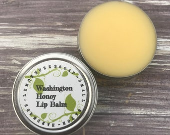 Washington Honey Lip Balm Tin+Moisturizing Balm+Lip Gloss+Lip Butter+Lip Balm+Bath And Body+Lip Salve+Lip Balm Gift+Lip Care+Health+Wellness