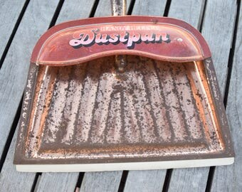 Vintage Copper Handy Helper Dustpan Metal Distressed Kitchen Decor