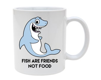 Fish are friends mug