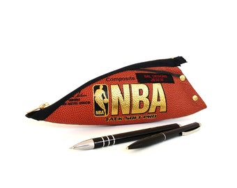 man Christmas gift, Basketball NBA, pencil case noble, luxury, he gift fancy, gift boy 18,sport, pencil case leather, gold, writing case