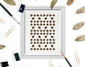 Geometric Modern Wall Art, Geometric Printable, Modern Art, Modern Contemporary, Square Digital Print, Square Wall Art, Geometric Art