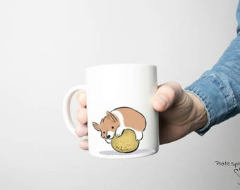 Corgi mug, corgi mugs, corgi coffee mug, corgi puppy, coffee mug, handmade, popular coffee mug, cute gift idea, dishwasher safe, corgi gift