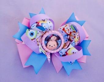 Tsum Disney  hair bow, Tsum hair bow Girl Tsum hair bow, Kids hair bow  , Tsum birthday hairbow Girl hair bow