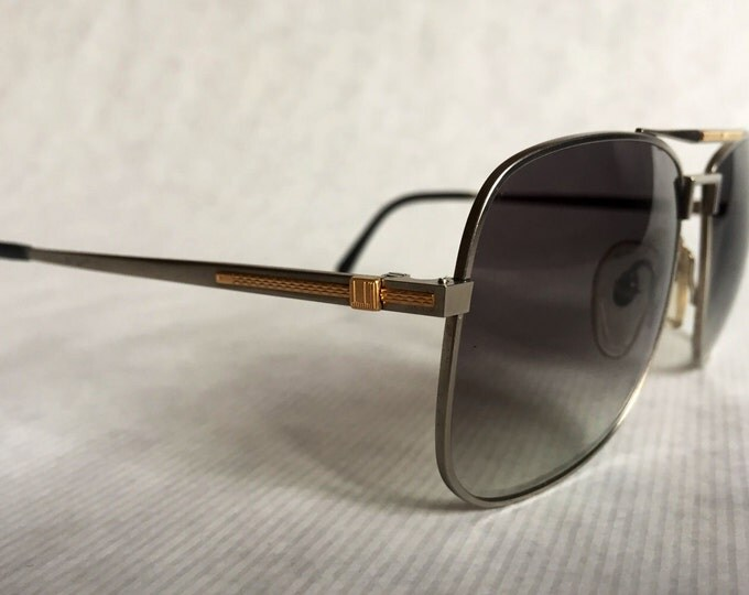 Dunhill 6038 Titanium & 18K Solid Gold Vintage Sunglasses Made in Japan NOS including Case