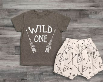 Baby Boy Clothes Wild One Birthday Boy Outfit Set, Wild One Shirt Set, 1st Birthday Outfit, First Birthday Shirt, First Birthday Boy Outfit