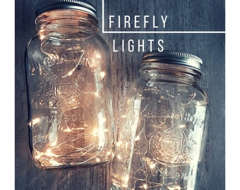 Mason Jar Fairy Lights, DIY Lanterns, Centerpieces, Rustic Wedding Decor, Fall Wedding, Rustic Party Decor, Mason Jar Lights  *Led lights
