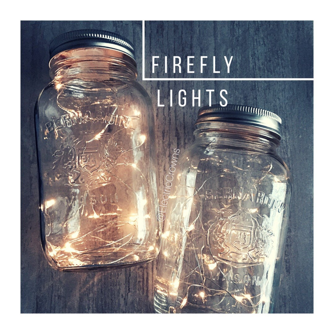 Mason jar fairy lights diy lanterns centerpieces rustic