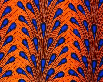 African print fabric Ankara fabric by the yard Electric bulb ankara African wax print for dress skirt  Orange African fabric african wax