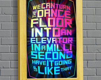Speakerbox Lyrics (Bassnectar inspired poster)