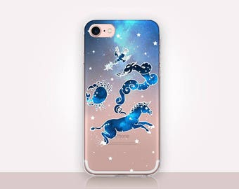 Astrology Clear Phone Case - Clear Case-For iPhone 8, 8 Plus, X, iPhone 7 Plus, 7, SE, 5, 6S Plus, 6S,6 Plus, Samsung S8,S8 Plus,Transparent