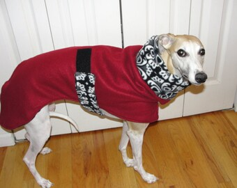 "Whippet Coat ""Cranberry Zentangle"""