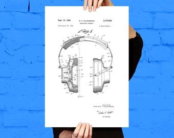 Headphones Patent, Headphones Poster, Headphones Blueprint, Headphones Print, Headphones Art, Headphones Decor p157