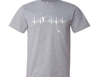 Heart Beats for Fishing T-Shirt