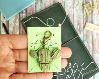 Charms for Midori Traveler's Notebook in the shape of a Saguaro Cactus, MTN cactus charm
