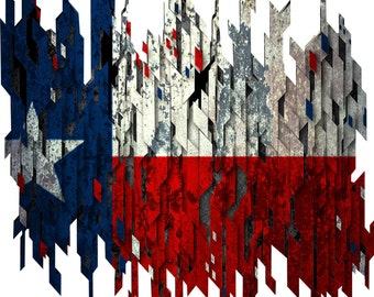 Distressed texas flag decal, full color texas flag decal, texas flag sticker, texan flag laptop sticker, vinyl decal, vinyl sticker