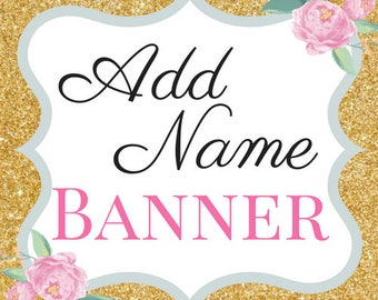 Name banner | Custom banner | Add a name banner