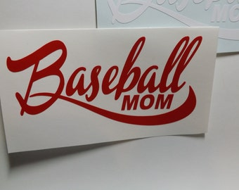 Baseball Mom Decal- window decal-laptop decal-mug decal-Yeti decal- personalize decal-Baseball car window decal