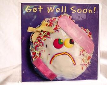 A Girl Get Well Soon!  Card