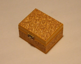 Yellow and Gold Jewelry Box