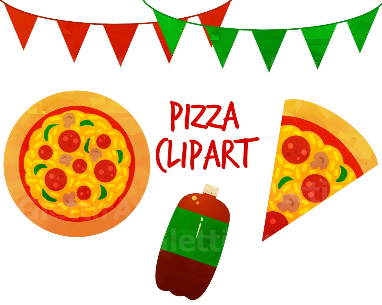 Pizza Clipart, food clipart, pizza party clipart, for ...