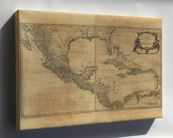 Canvas 24x36; Map Of West Indies Florida Cuba Mexico 1768